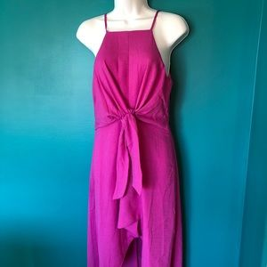 NWT hot pink high-low dress